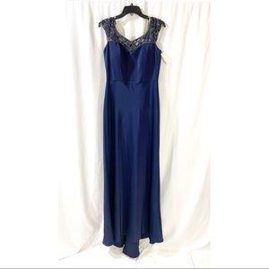La Femme embellished sweetheart neckline gown